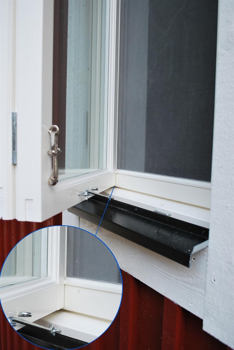 Omtalade Myggbågar till fönster från rm-fönster i Vimmerby, färdiga med IB-35